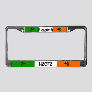 Keefe in Irish & English License Plate Frame