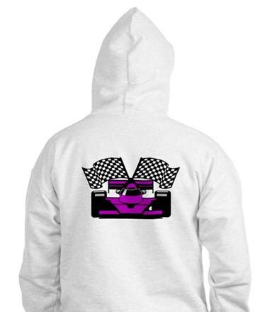 PURPLE RACE CAR Hoodie