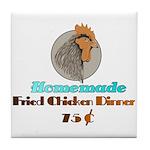 Vintage Diner Sign Print Tile Coaster