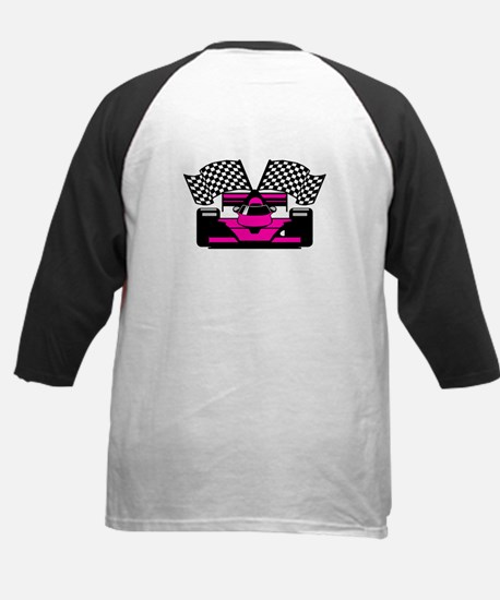 HOT PINK RACE CAR Kids Baseball Jersey