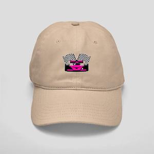 HOT PINK RACE CAR Cap