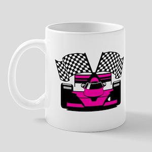 HOT PINK RACE CAR Mug