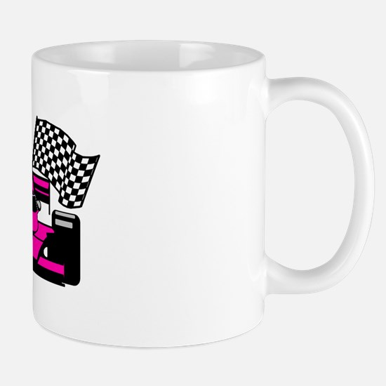 HOT PINK RACE CAR Mug