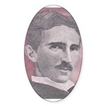 Tesla-1 Oval Sticker (10 pk)