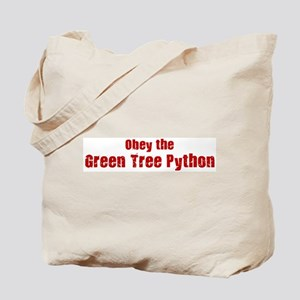 Obey the Green Tree Python Tote Bag