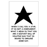 When I Call You A Star Large Poster