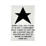When I Call You A Star Rectangle Magnet (10 pack)