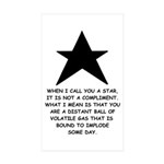 When I Call You A Star Rectangle Sticker 50 pk)