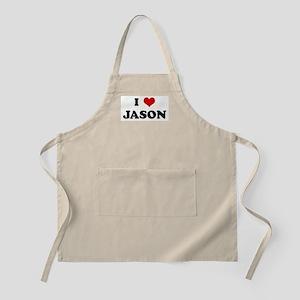 I Love JASON BBQ Apron