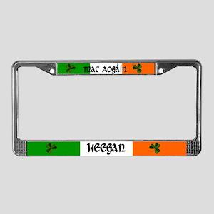 Keegan in Irish & English License Plate Frame