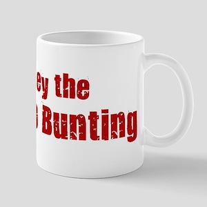 Obey the Indigo Bunting Mug