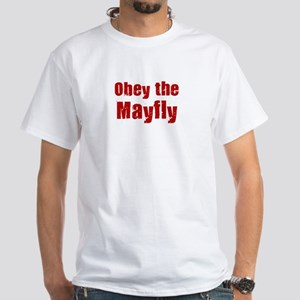 Obey the Mayfly White T-Shirt