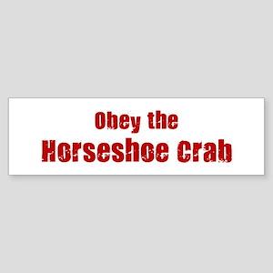 Obey the Horseshoe Crab Bumper Sticker