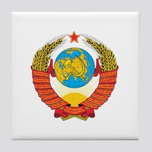 Soviet Coat of Arms Tile Coaster
