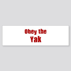 Obey the Yak Bumper Sticker