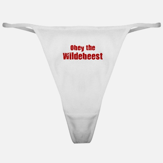 Obey the Wildebeest Classic Thong