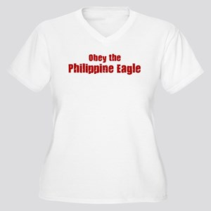 Obey the Philippine Eagle Women's Plus Size V-Neck