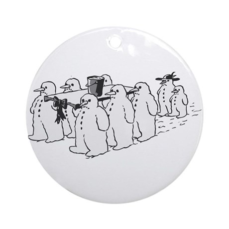 Snowman Funeral Ornament (Round)