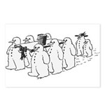 Snowman Funeral Postcards (Package of 8)