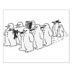 Snowman Funeral Small Poster