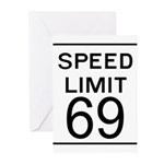 Speed Limit 69 Greeting Cards (Pk of 10)