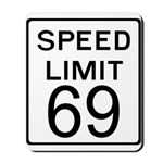 Speed Limit 69 Mousepad