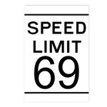 Speed Limit 69 Postcards (Package of 8)