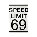 Speed Limit 69 Rectangle Magnet (100 pack)