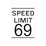 Speed Limit 69 Rectangle Sticker 10 pk)