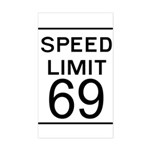 Speed Limit 69 Rectangle Sticker