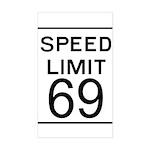Speed Limit 69 Rectangle Sticker