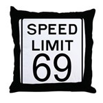 Speed Limit 69 Throw Pillow