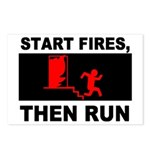 Start Fires, Then Run Postcards (Package of 8)