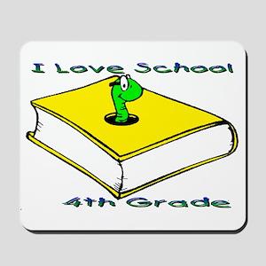Bookworm 4th Grade Mousepad