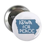 Iowa for Peace activist button
