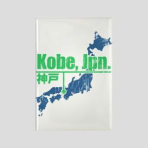 Vintage Kobe Rectangle Magnet