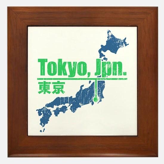 Vintage Tokyo Framed Tile
