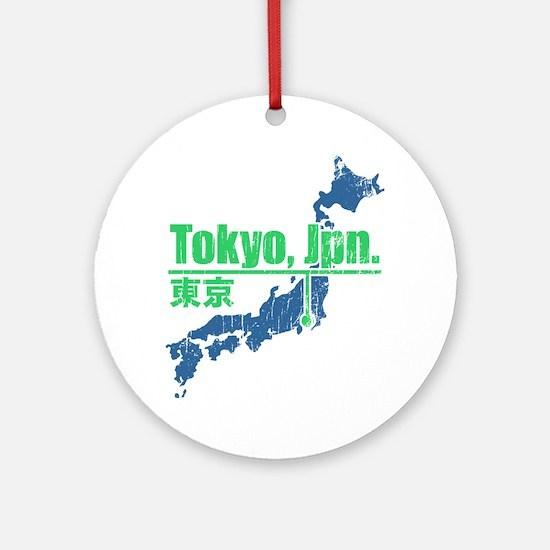 Vintage Tokyo Ornament (Round)