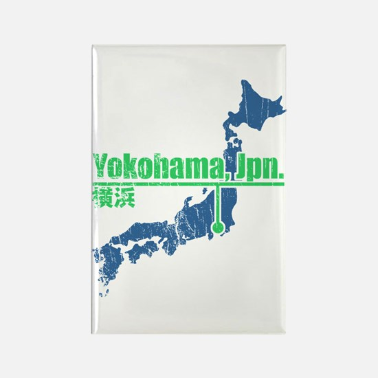 Vintage Yokohama Rectangle Magnet