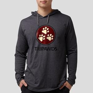Tripawds Three Paw Logo Long Sleeve T-Shirt