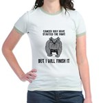 Cancer Started the Fight Jr. Ringer T-Shirt