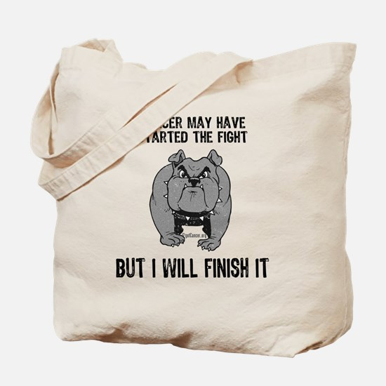 Cancer Started the Fight Tote Bag