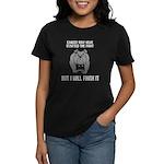 Cancer Started the Fight Women's Dark T-Shirt