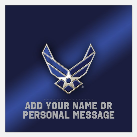 PERSONALIZED U.S. Air Force Logo Invitations