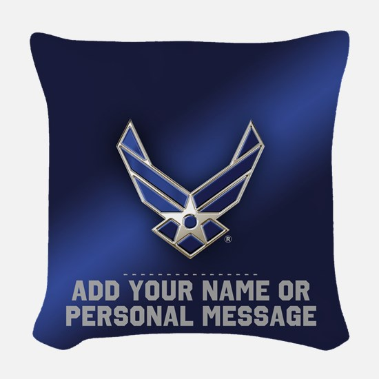 PERSONALIZED U.S. Air Force Logo Woven Throw Pillo