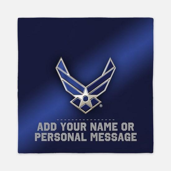 PERSONALIZED U.S. Air Force Logo Queen Duvet
