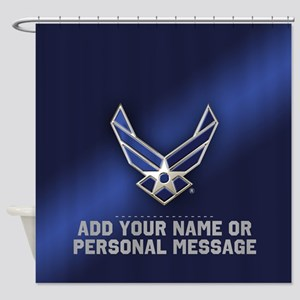 PERSONALIZED U.S. Air Force Logo Shower Curtain