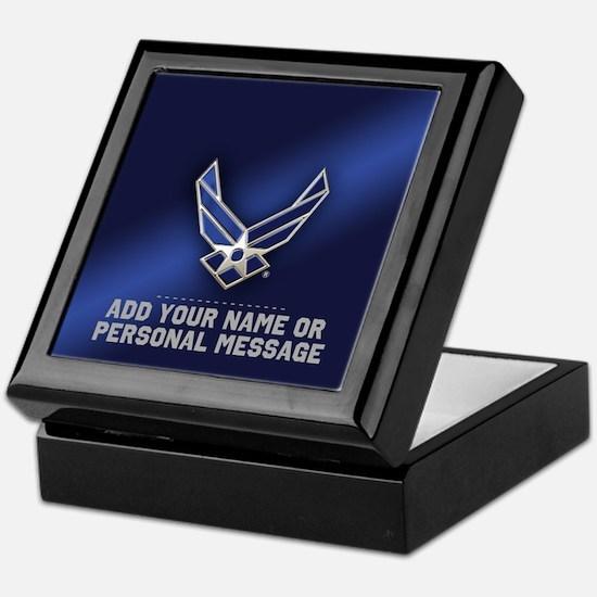 PERSONALIZED U.S. Air Force Logo Keepsake Box