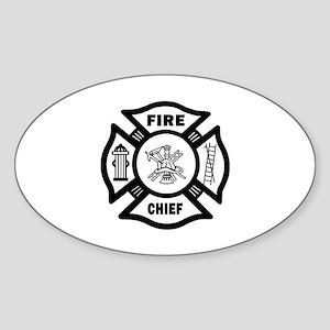 Fire Chief Sticker (Oval)