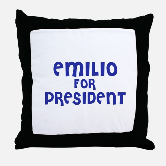 Emilio for President Throw Pillow